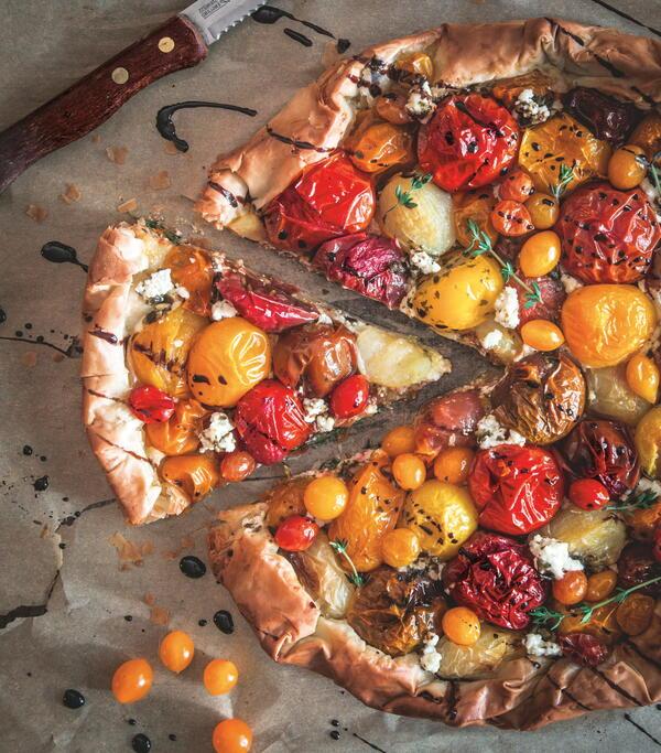 Blistered Tomato Galette