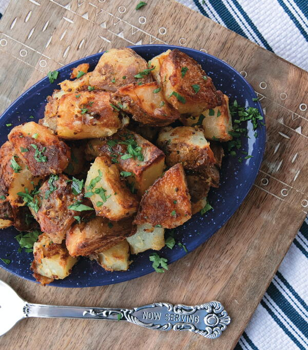Horseradish-Mustard Roasted Potatoes
