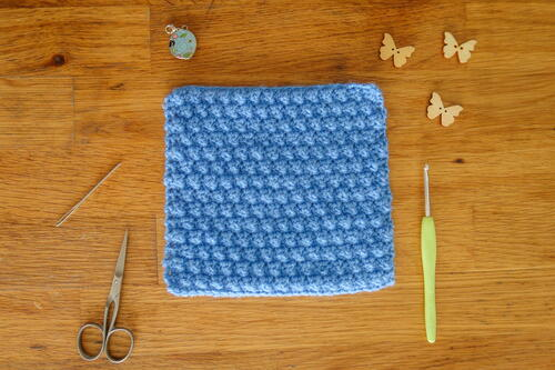 Mini Bobble Crochet Stitch For Sweaters