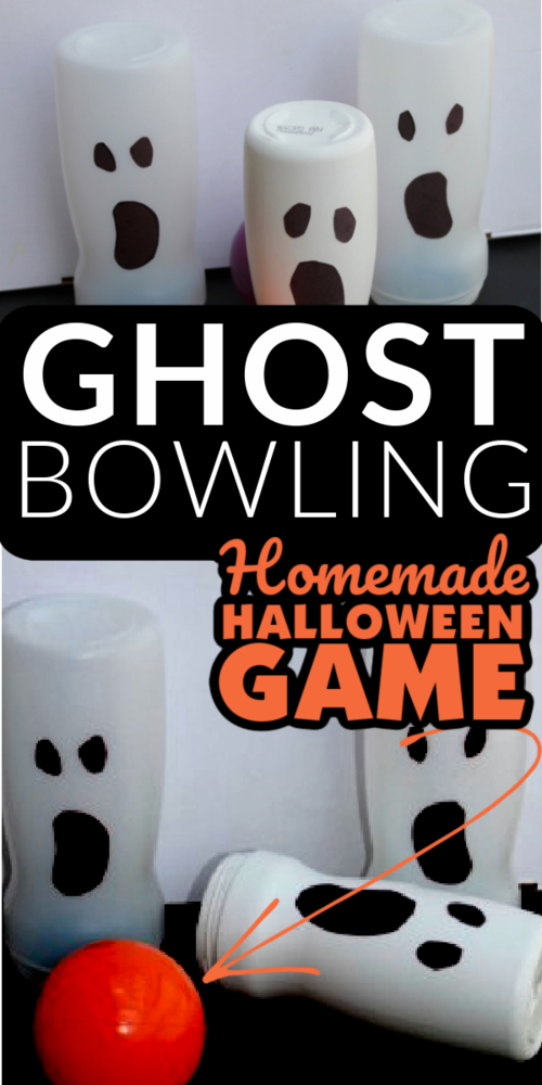 Homemade Ghost Bowling Game For Halloween