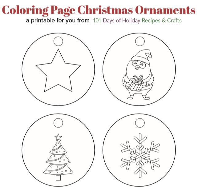 Precious Printable Coloring Page Christmas Ornaments  AllFreeHolidayCrafts.com
