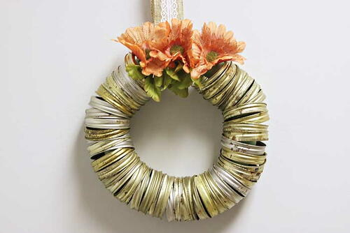 Canning Ring Wreath