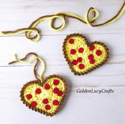 Crochet Pizza Heart