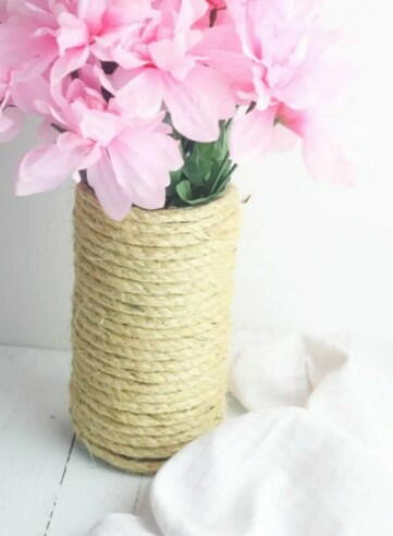 Upcycled Rope Vase