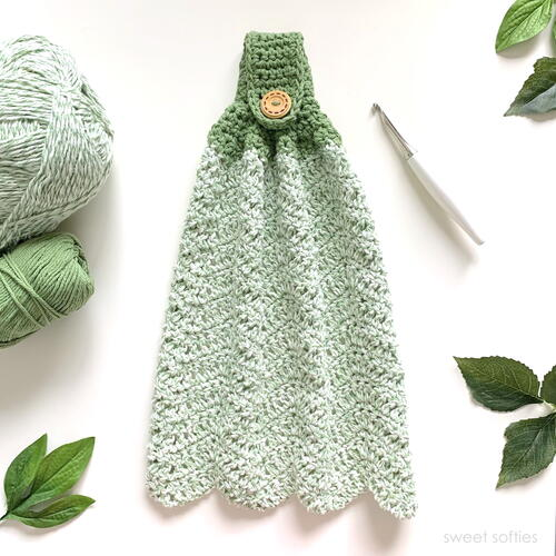 Crochet Hand Towel For Home Kitchen And Bathroom
