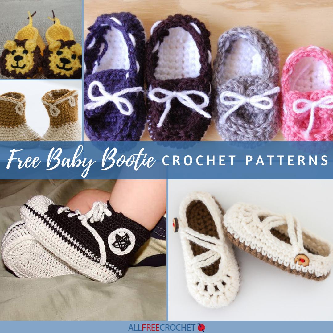 50 Free Baby Bootie Crochet Patterns Allfreecrochet Com