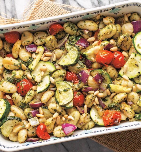 Pesto-Roasted Gnocchi and Veggies