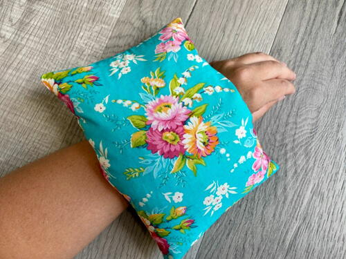 Homemade Heating Pad With Rice