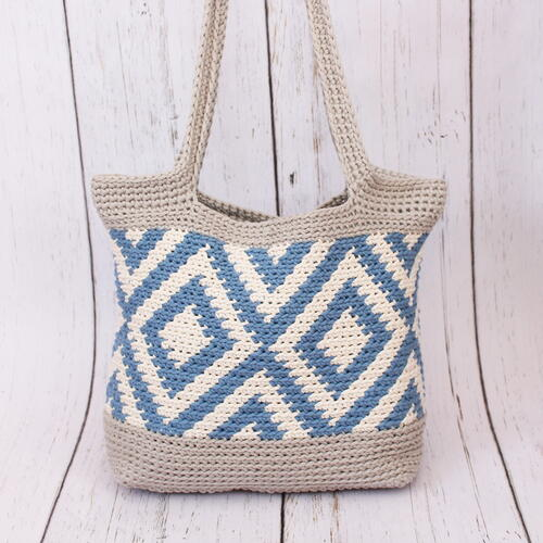 Crochet Diamond Tote