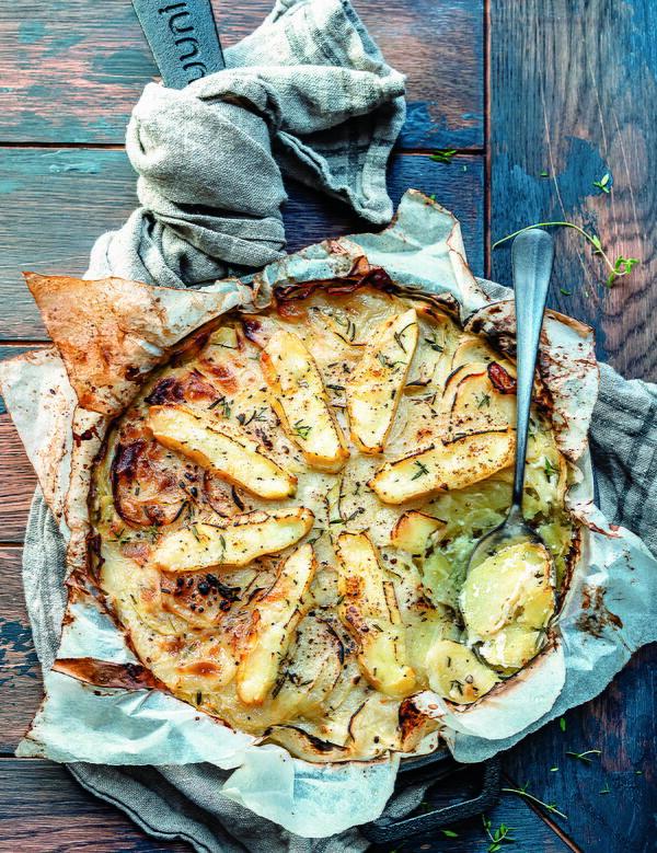 Brie Rosemary Potato Bake