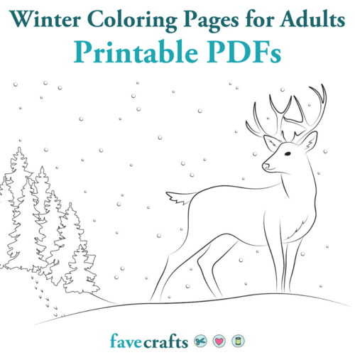 Winter Coloring Pages for Adults Printable PDFs