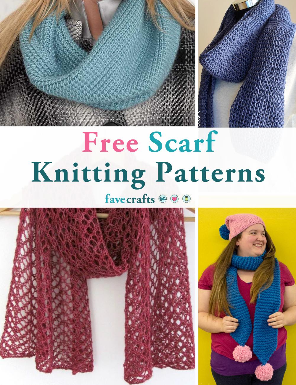68 Free Scarf Knitting Patterns Favecrafts Com