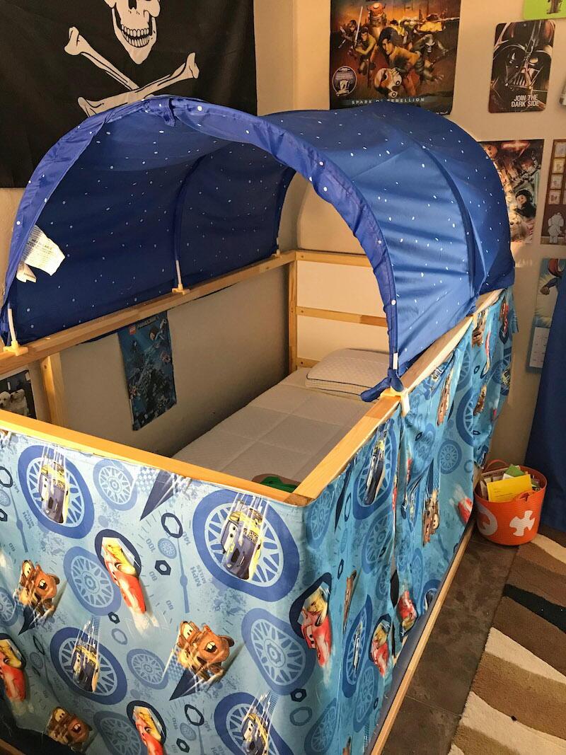 Ikea Kura Bed Hack Diy Tent Favecrafts Com
