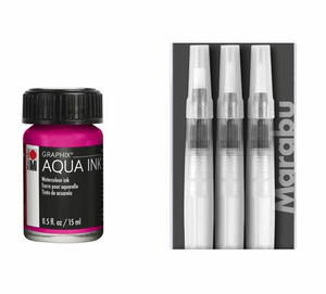 Fillable Fluid Arts Brush Set and Graphix Aqua Inks Giveaway