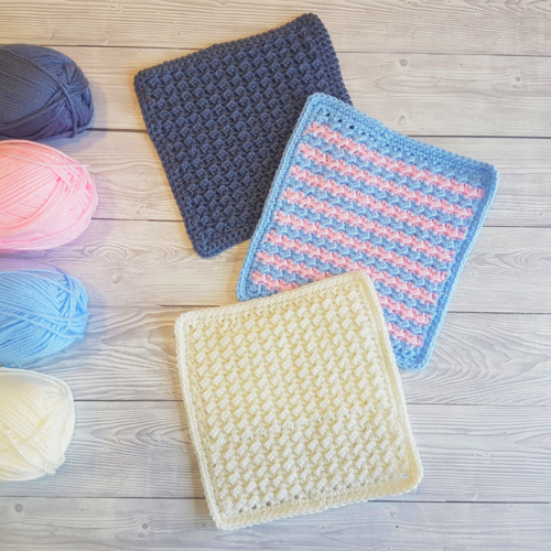Crunch Stitch Washcloths