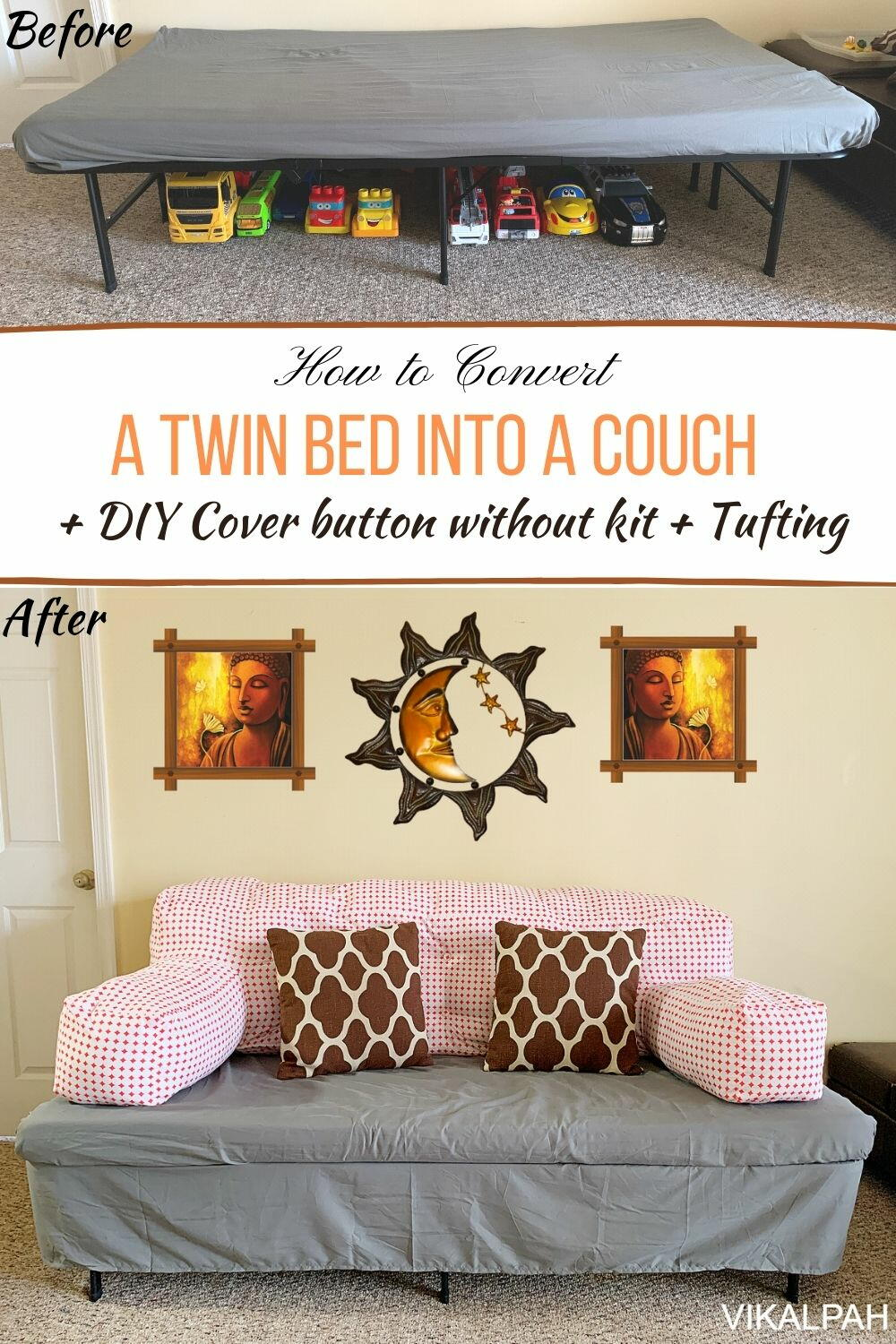 How To Convert A Twin Bed Into A Couch Favecrafts Com
