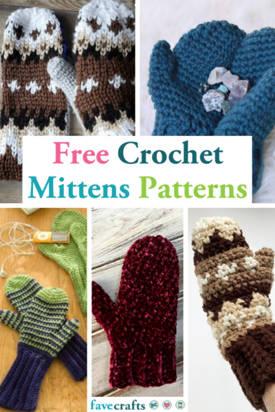 47 Free Crochet Mittens Patterns