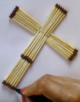 Good Friday Matchstick DIY Cross