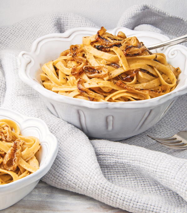 Caramelized Onion Fettuccine
