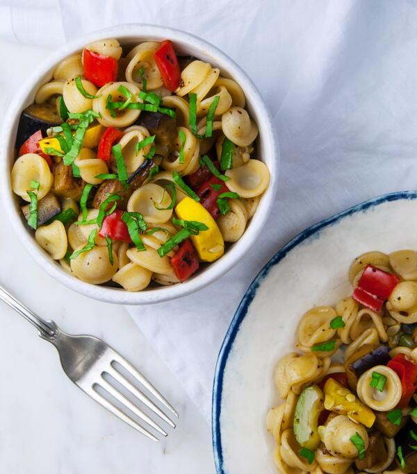 Balsamic and Basil Pasta Salad
