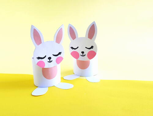 Easy Easter Bunny Toilet Paper Roll Craft
