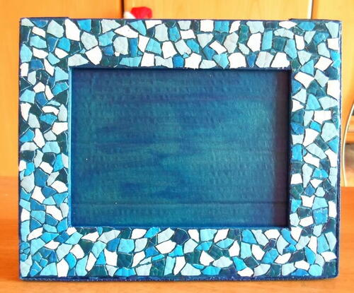 Eggshell Mosaic DIY Picture Frame