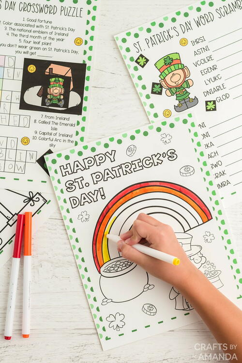 St. Patrick's Day Activity Sheets