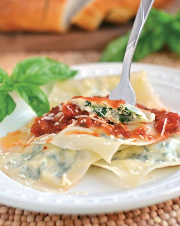 Chicken and Spinach Ravioli