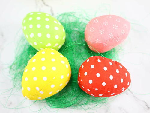 Fabric Eggs For Easter