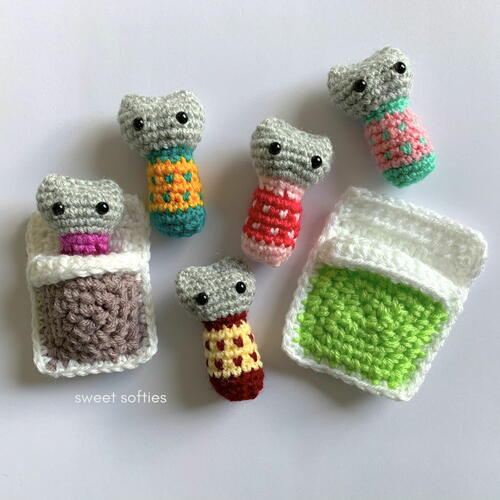 Catnap Kitties Worry Doll Amigurumi Animal