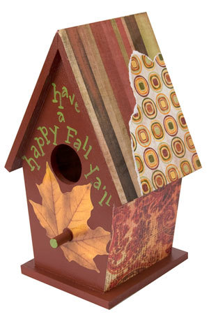 birdhouse this painting project creates a beautiful autumn birdhouse