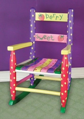 Sweet berry rocker for Small wooden rocking chair for crafts