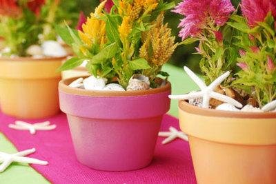 flower pot craft ideas for centerpieces