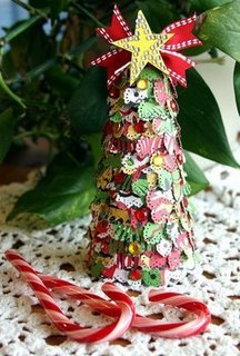 Scrapbook Paper Christmas Tree