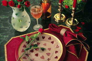 Valentine Table Setting and Custom Dinnerware