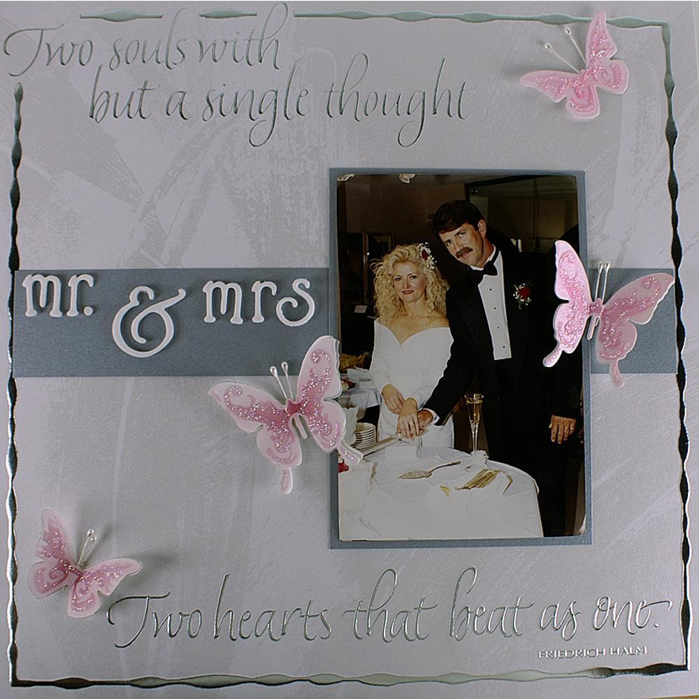 mr  and mrs  wedding scrapbook layout