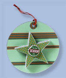 Bottle Cap Christmas Tag