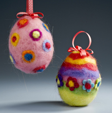 Needlefelted Easter Eggs