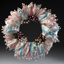 Holiday Pastel Ribbon Wreath