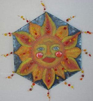 Embossed Glue Sun Burst