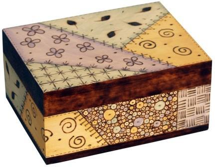 Quilt Pattern Woodburned Box Favecrafts Com