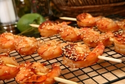 Aussie Shrimp on the Barbie with Orange Ginger