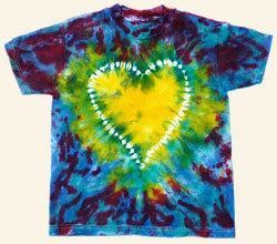 Tie Dye Heart Pattern