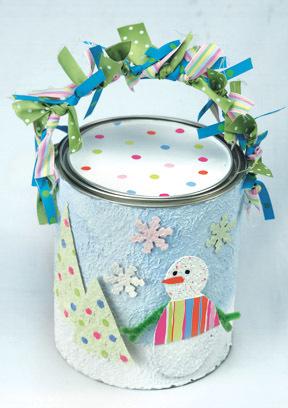 Snowman Paint Can Gift Box Favecrafts Com