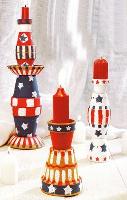 July 4th Candleholders