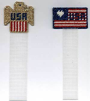 Patriotic Plastic Canvas Bookmark
