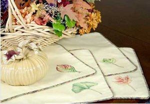 Waste Canvas Leaf Place Mats