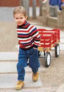 Striped Sweater For Child Knitting Pattern Favecrafts Com