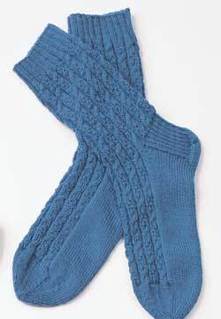 Sirdar Snuggly Knitting Patterns : Cable Socks for Men Knitting Pattern FaveCrafts.com