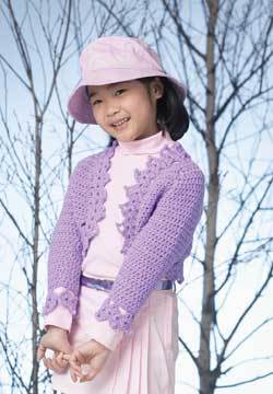 Childrens Shrug Knitting Pattern : Bolero for Girl Crochet Pattern FaveCrafts.com